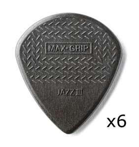 Dunlop Jazz III Max-Grip Carbon 6stk.