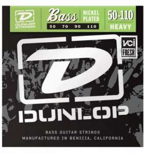 Dunlop Bassastrengir Nickel 50-110 4str