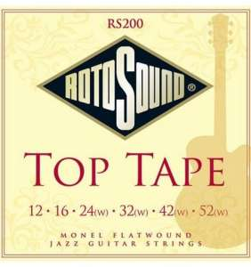 Rotosound Top Tape Flatwound 12-52