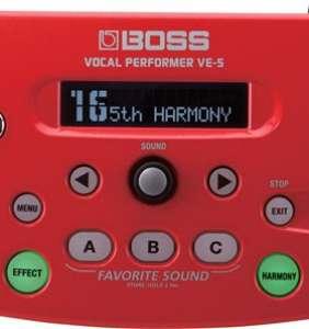 Boss VE-5 Vocal Effect Processor Rauður